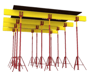 Опалубка перекрытия на телескопических стойках