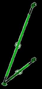 Подкос для фиксации щитовой опалубки